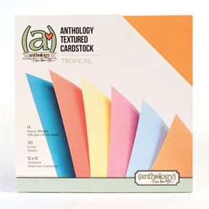 Picture of *50% OFF* Anthology Textured Cardstock Pack - Tropical (30 sheets)  *SALE* WHILE SUPPLIES LAST